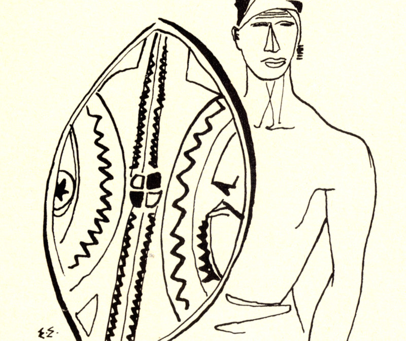 """Tery David, """"International: The Male Homophile in Black Africa,"""" ONE, Feb. 1956, 22-25"""