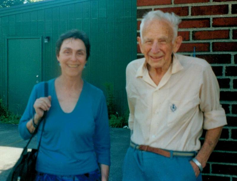 Allen Bernstein with a friend, writer Alix Kates Shulman, Portland, Maine, July 2001. <br /> <br /> [Photo courtesy of Alix Kates Shulman.]