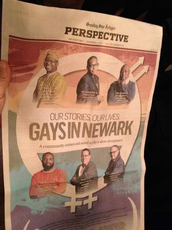 Gays in Newark newspaper