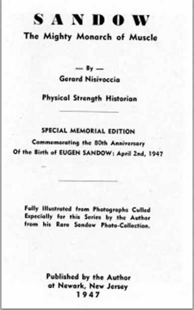 Sandow Title Page