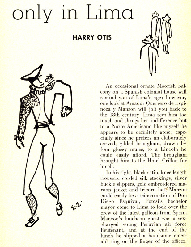 """Harry Otis, """"Only in Lima,"""" ONE, Feb. 1959, 18-22."""